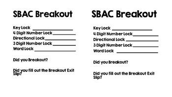 SBAC Breakout Math Review