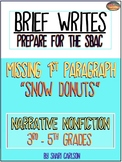 "SBAC Brief Write ~ MISSING INTRO Paragraph ~ ""SNOW ROLLERS"