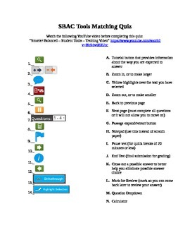 SBAC Tools Matching Quiz