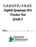 SBAC CAASPP ELA and Math Practice Tests, Grade 3