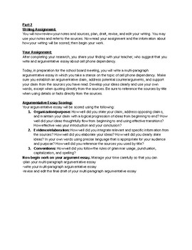 SBAC/CAASPP Writing Practice- Performance Task