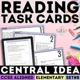 SBAC Central Idea Task Cards Grades 3-5
