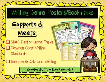 Benchmark Advance Writing-Posters and Bookmarks- Supports SBAC and CCSS
