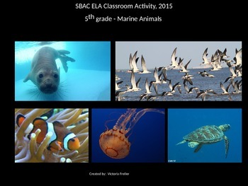 SBAC Interim PT - 5th Grade ELA Classroom Activity, 2015