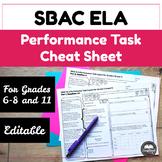 SBAC ELA Grades 6-8 and 11 Performance Task Cheat Sheet
