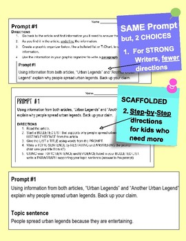 """SBAC ELA Test Prep 1 Article~PROMPTS to PARAGRAPHS  """"What Did You Buy?"""""""