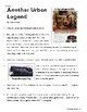 """SBAC ONLINE READING & WRITING Test Prep ~ 2 Articles ~ """"Urban Legends"""""""