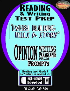 """SBAC ELA Test Prep ~FACT & OPINION~ One Article """"EVERY BUILDING TELLS A STORY"""" ~"""