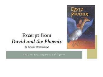 SBAC ELA practice: An excerpt from David and the Phoenix