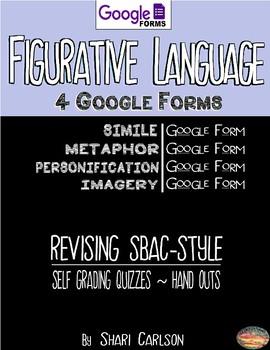 SBAC Figurative Language II--4 Google Forms: Simile, Metaphor, Imagery...