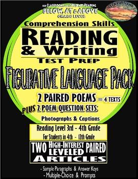 SBAC Figurative Language III BUNDLE -- Ultimate -- Google Forms, texts, lessons