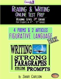 SBAC Figurative Language BUNDLE ~ ONLINE ~ PROMPTS TO PARA
