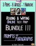 SBAC Test Prep BUNDLE III  ~with 12 Online TEXTS: ARTICLES ~ POEMS ~ NARRATIVES
