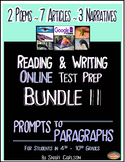 SBAC ONLINE READING & WRITING Test Prep ~ BUNDLE II ~ ONLINE ~ 14 TEXTS