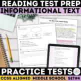 Smarter Balanced Informational Text Reading Practice Test   PDF & Digital