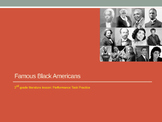 SBAC performance task lesson, 3rd grade: Famous Black Americans