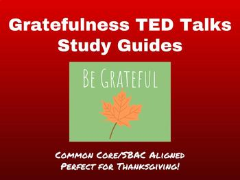 SBAC Listening Prep Using TED Talks-Gratefulness-Perfect for Thanksgiving!