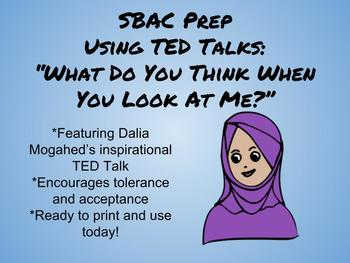 SBAC Listening Prep Using Ted Talks-What Do You Think When You Look at Me?