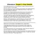 SBAC Literature Question Stems