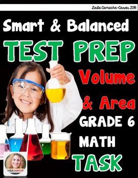 SBAC Math Grade 6 Volumes and Area Task