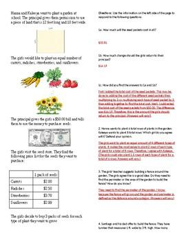 SBAC Math Performance Task Practice