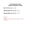 SBAC Math Question Stems & Practice Problems 5th grade