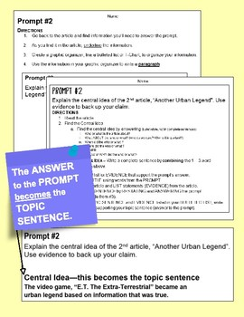 "SBAC ONLINE Test Prep 1 Article~PROMPTS to PARAGRAPHS  ""Dragonflies"""