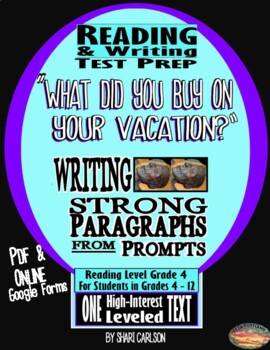 """SBAC ONLINE READING & WRITING Test Prep ~ 1 Article ~ """"What Did You Buy?"""""""