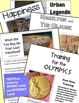 SBAC ONLINE READING & WRITING Test Prep ~ 1 Article ~ About Swimming & Olympics