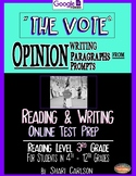 """SBAC Test Prep ~ 1 ONLINE Text, """"THE VOTE"""" ~ 1st Woman Mayor ~ FACT & OPINION"""