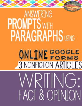 SBAC ONLINE Test Prep ~ FACT & OPINION ~3 Articles - PROMPTS to PARAGRAPHS
