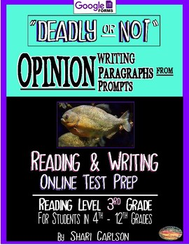 """SBAC Test Prep ~ FACT & OPINION ~ 1 Text, """"DEADLY OR NOT"""" ~ ONLINE Google Forms"""