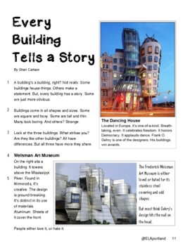 "SBAC ONLINE Test Prep ~FACT & OPINION~One Article ""EVERY BUILDING TELLS A STORY"""