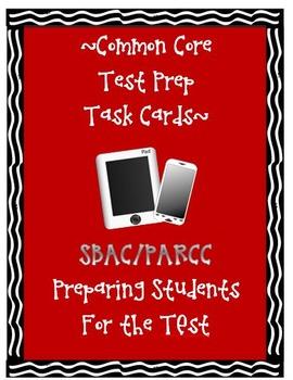SBAC PARCC Test Prep Task Cards