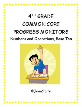 SBAC PREP:  4th Grade Progress Monitors  Numbers and Operations (Base Ten)