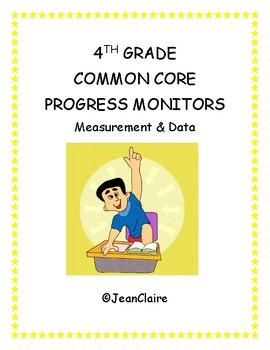 SBAC PREP: 4th Grade Progress Monitors for Measurement and Data