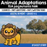Distance Learning SBAC ELA Performance Task - Animal Adaptations