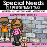 SBAC ELA Performance Task - Diversity and Special Needs