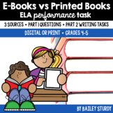 SBAC ELA Performance Task - E-books vs Printed Books