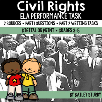 Distance Learning SBAC ELA Performance Task - Justice and Civil Rights