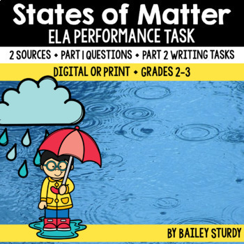 SBAC Performance Task - States of Matter
