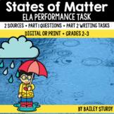 ELA Performance Task - States of Matter