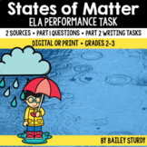 Distance Learning SBAC ELA Performance Task - States of Matter