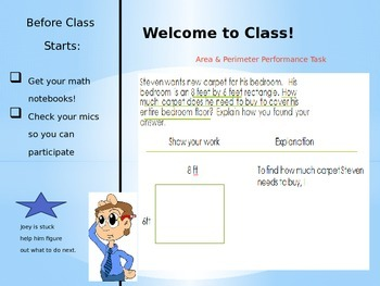 SBAC Perimeter and Area Performance Task: 3rd grade