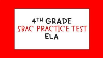 SBAC Practice Test 4th Grade ELA