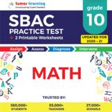SBAC Practice Test, Worksheets - Grade 10 Math Smarter Balanced Test Prep