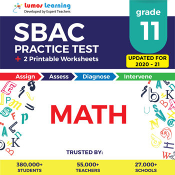 SBAC Practice Test, Worksheets - Grade 11 Math Smarter Balanced Test Prep