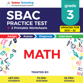 SBAC Practice Test, Worksheets - Grade 3 Math Smarter Balanced Test Prep