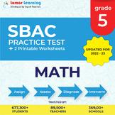 SBAC Test Prep Math - SBAC Practice Test & Worksheets Grade 5 Math