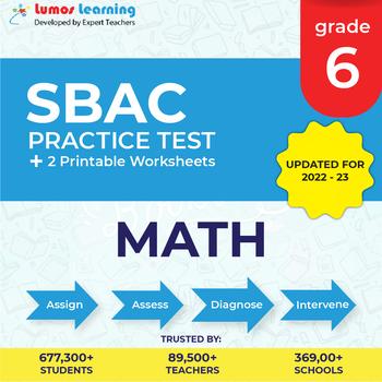 sbac practice test worksheets  grade  math smarter balanced test prep
